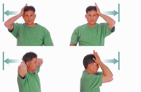 تمرینات بهبود درد گردن